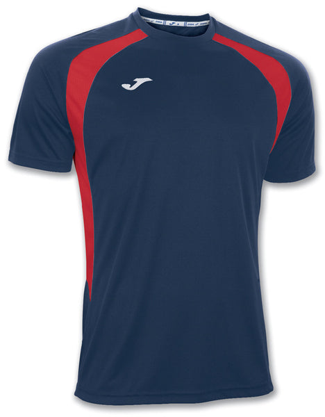 Joma T-Shirt Champion III Navy-Red S/S
