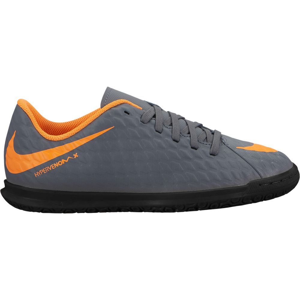 Kid's Nike PhantomX 3 Club IC Gray/Orange