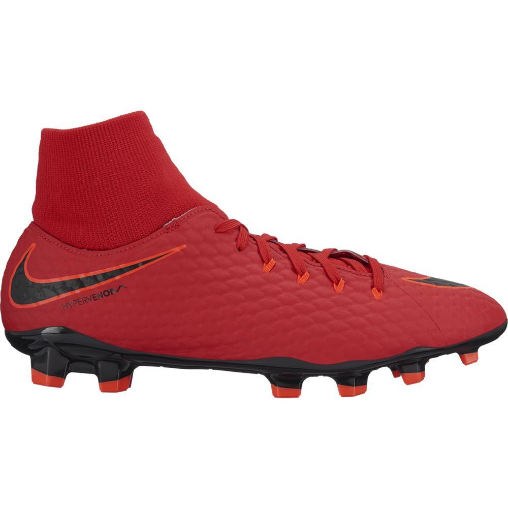 Men's Nike Hypervenom Phelon III Dynamic Fit (FG) Firm-Ground Football Boot RED