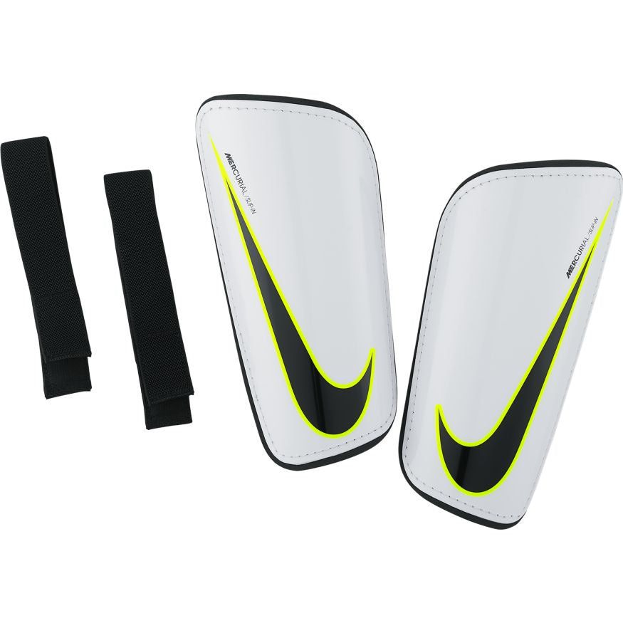 Nike Mercurial Hardshell Football Shin Guards White