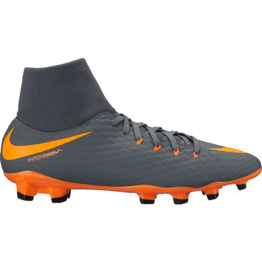Men's Nike Phantom 3 Academy DF FG Gray/Orange