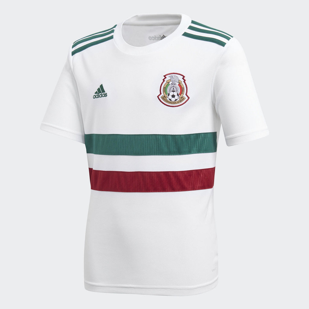 Adidas Mexico Away Jersey Youth  White