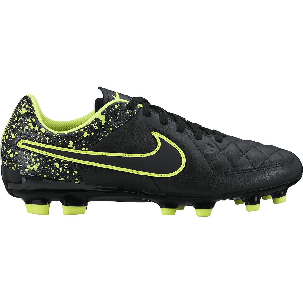 Nike Jr. Tiempo Genio Leather (Fg) Black///Black