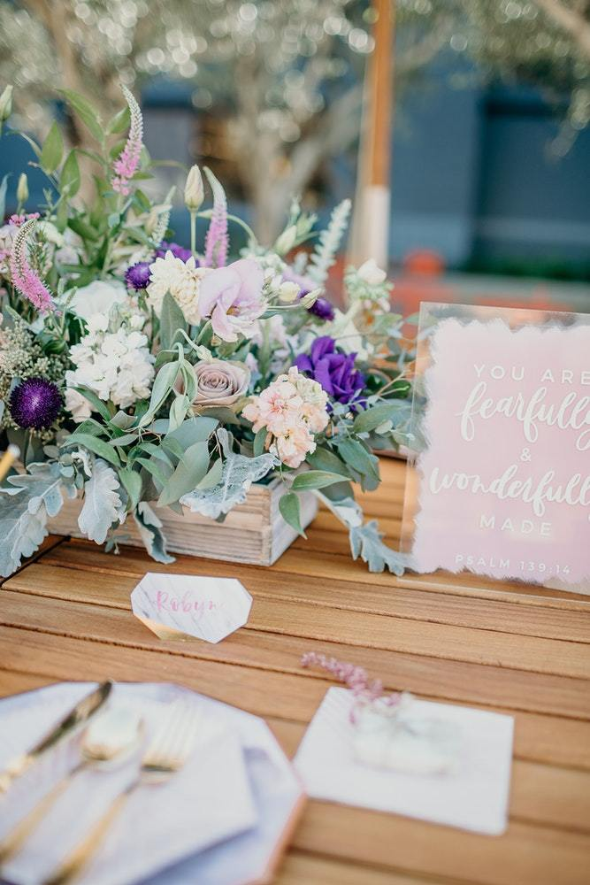 A Watercolor Baby Shower: Featuring the Amethyst Collection