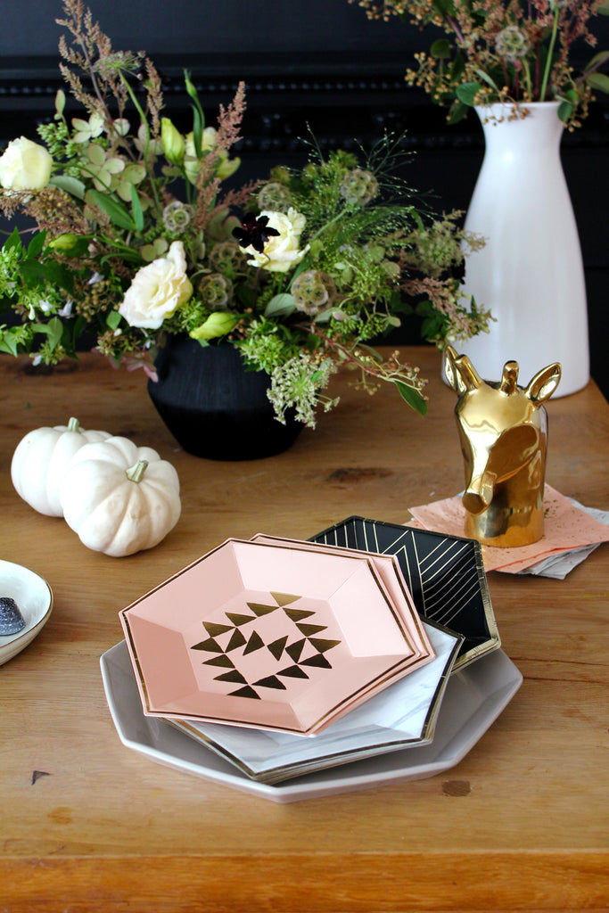 harlow grey party plates