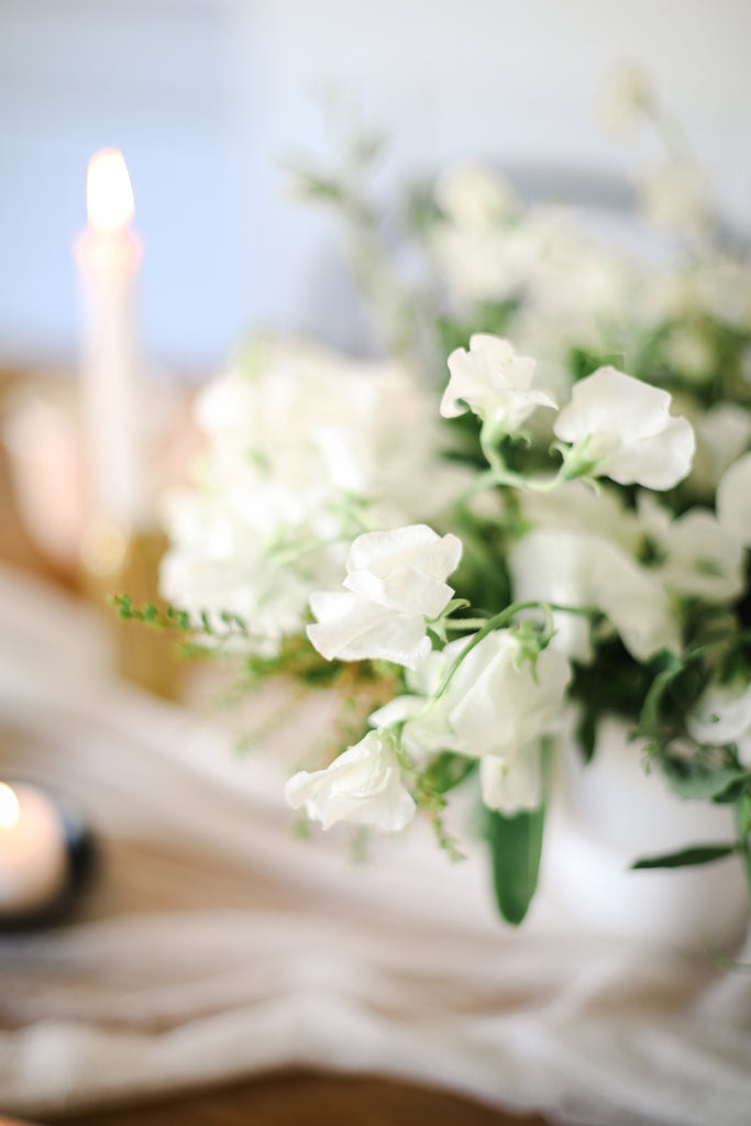 sweet peas floral arrangement