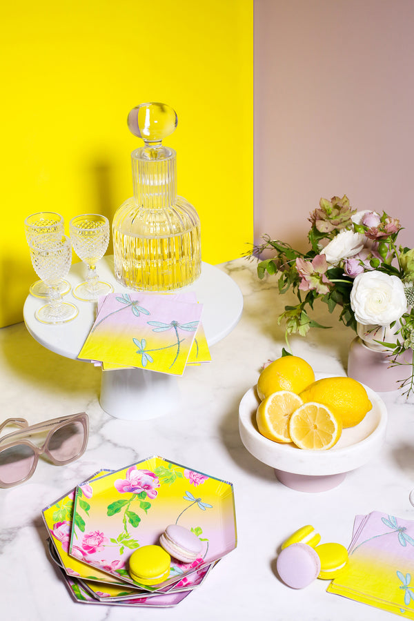 Cynthia Rowley Golden Hour - Floral Ombre Premium Small Plates