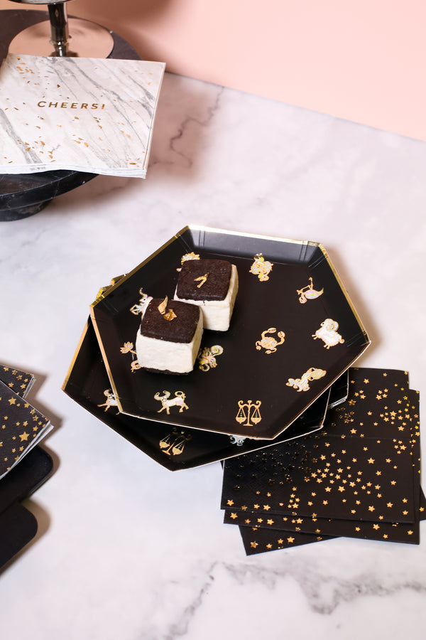 Cynthia Rowley Zodiac - Black Little Stars Cocktail Napkins (Case Pack)