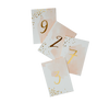 Daydream - Peach Watercolor Paper Table Numbers 1-10
