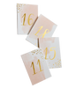 Daydream - Peach Watercolor Paper Table Numbers 11-20