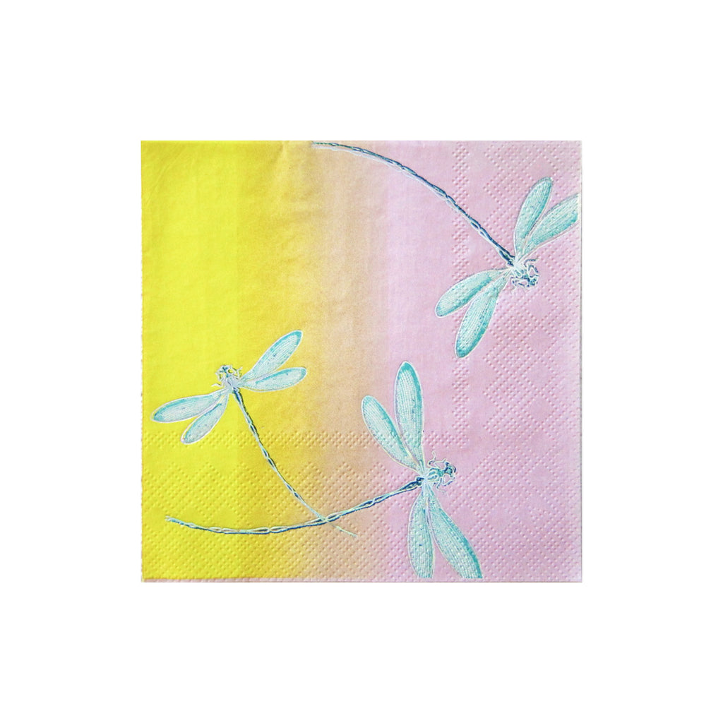 Cynthia Rowley Golden Hour - Floral Ombre Cocktail Napkins