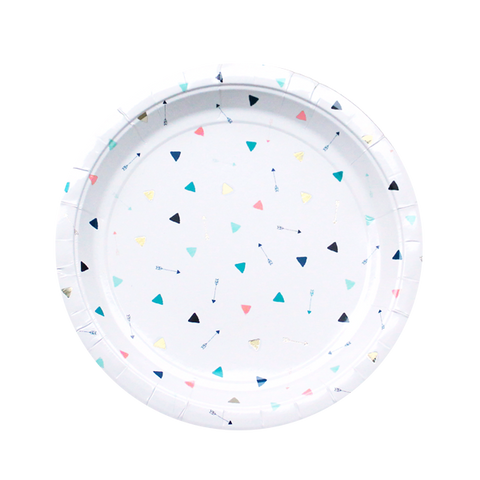 Modern Camp - Triangle & Arrow Large Party Plates