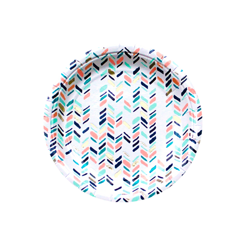 Modern Camp - Modern Chevron Small Party Plates