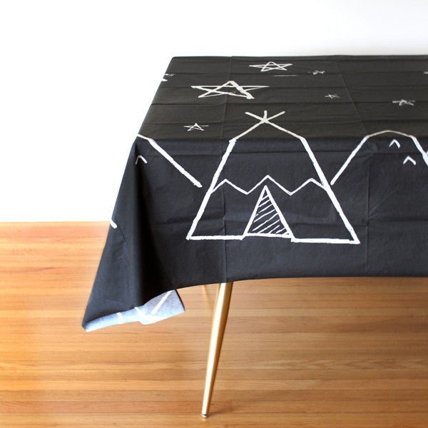 Modern Camp - Starry Night Table Cover / Photo Backdrop