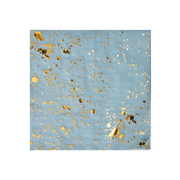 Malibu - Blue Splash Lunch Paper Napkins