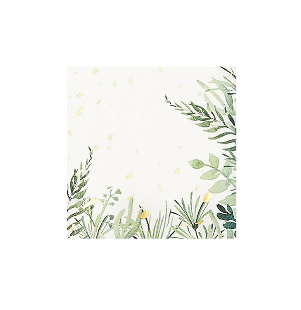 Secret Garden - White Botanicals Cocktail Paper Napkins
