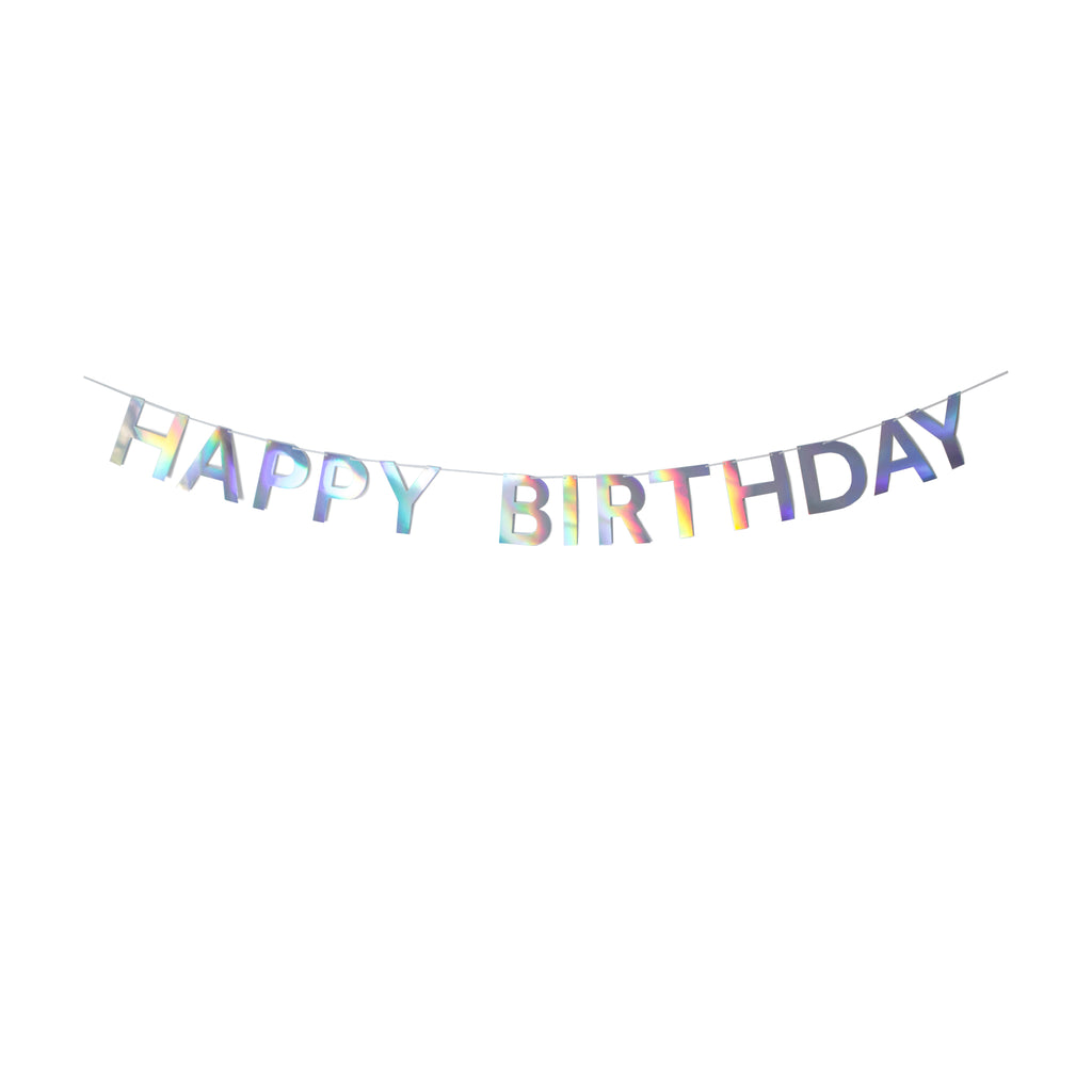 Sprinkles - Holographic Happy Birthday Banner