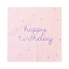 Sprinkles - Pastel Happy Birthday Lunch Napkins (Multi-Color Pack)