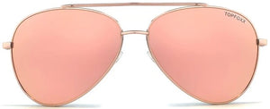 Topfoxx Women's Sunglasses New York Top Trending Amelia Rose Gold Aviator Sunnies