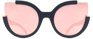 Topfoxx Women's Sunglasses New York Top Trending Chloe Cat Eye Rose Gold