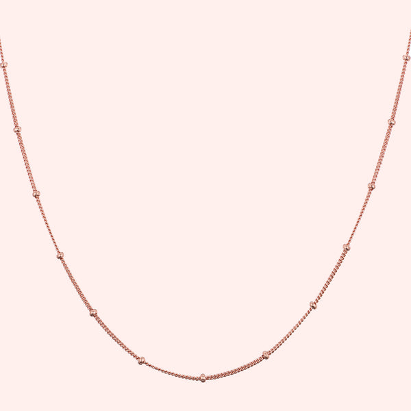 Topfoxx Jewelry Sterling Silver Necklace Whisper Rose Gold Chain