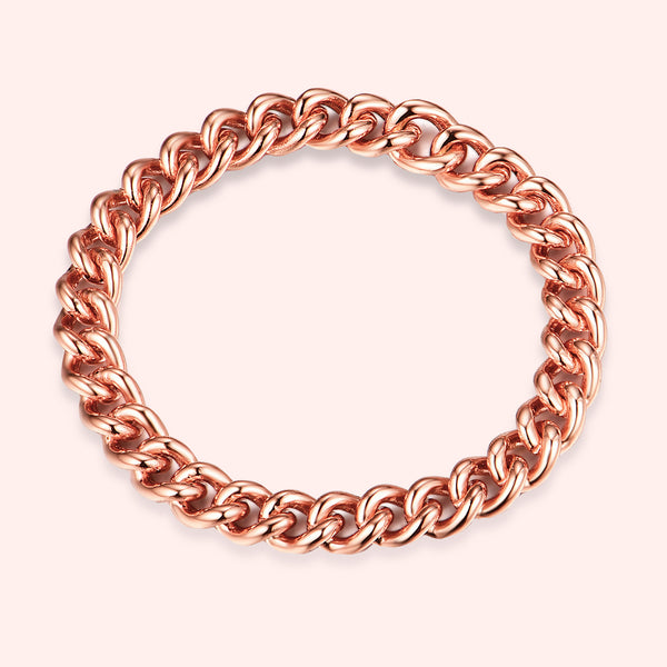 Topfoxx Jewelry Sterling Silver Ring Chain 90's Baby Rose Gold