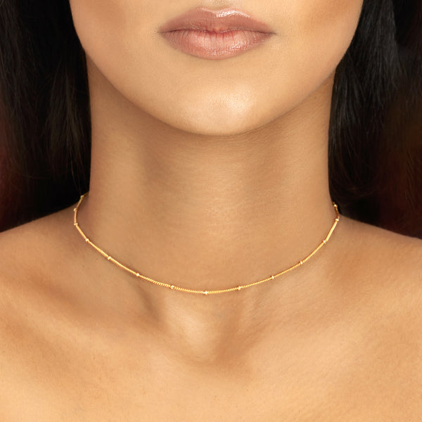 Topfoxx Jewelry Sterling Silver Necklace Whisper Gold Chain