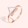 Topfoxx Jewelry Sterling Silver Ring Cleopatra Rose Gold Triangle Cut Crystal