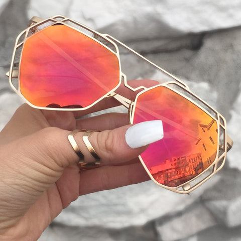 Arrest Me Sunnies - Sunset (Red - Orange Lens) - TopFoxx