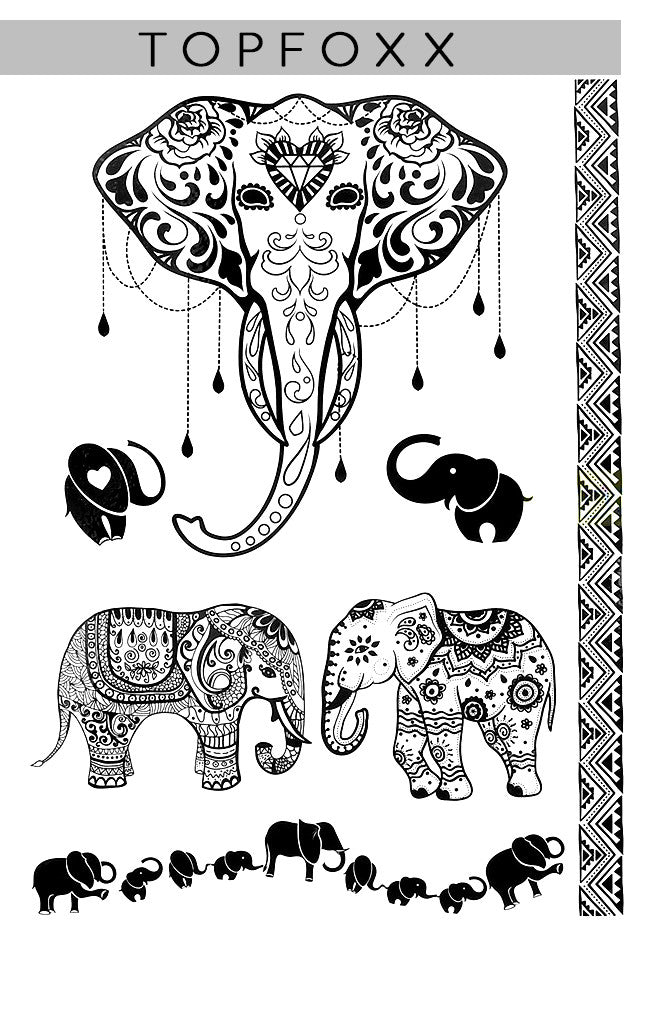 """Majestical Elephant"" - Black"