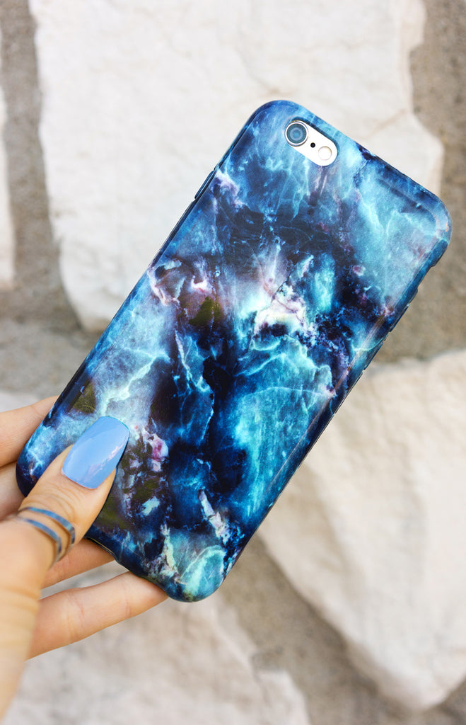 """  Deep AquaMarine"" Marble - Iphone Case - TopFoxx"
