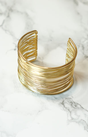 """Dripping in Gold"" - Gold - Cuff bracelet"