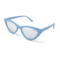Topfoxx Sunglasses Matrix Cat Eye Matte Blue Frame Silver Lens