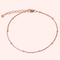 Topfoxx Jewelry Sterling Silver Bracelet Caress Rose Gold Chain