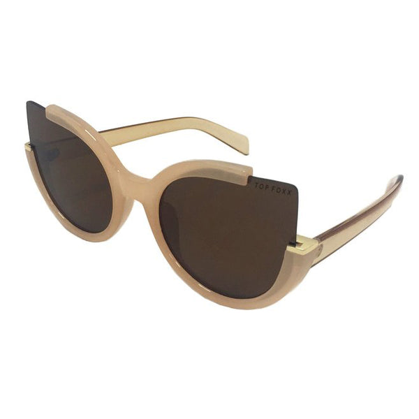 Topfoxx Sunglasses Chloe Cat Eye Nude Brown