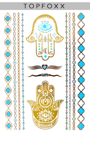 Evil Eye Protection Hamsa - Gold