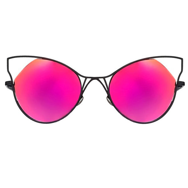 Topfoxx Sunglasses Indecent Cateye Blood Orange Lens Black Frame