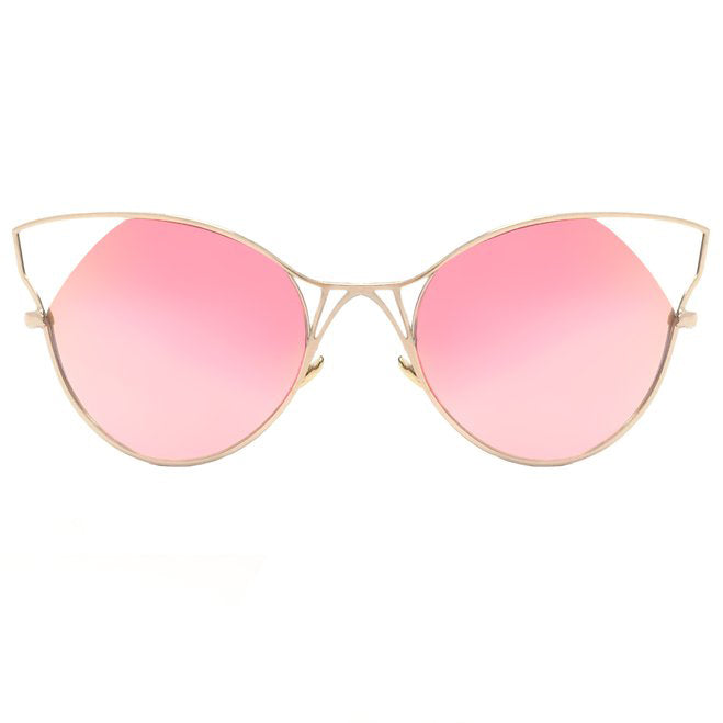 Indecent Cateye - Rose Gold + Gold Frame