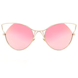Indecent Cateye Sunnies - Rose Gold + Gold Frame