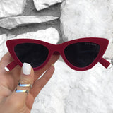 Matrix sunnies - Red Velvet/Black - TopFoxx