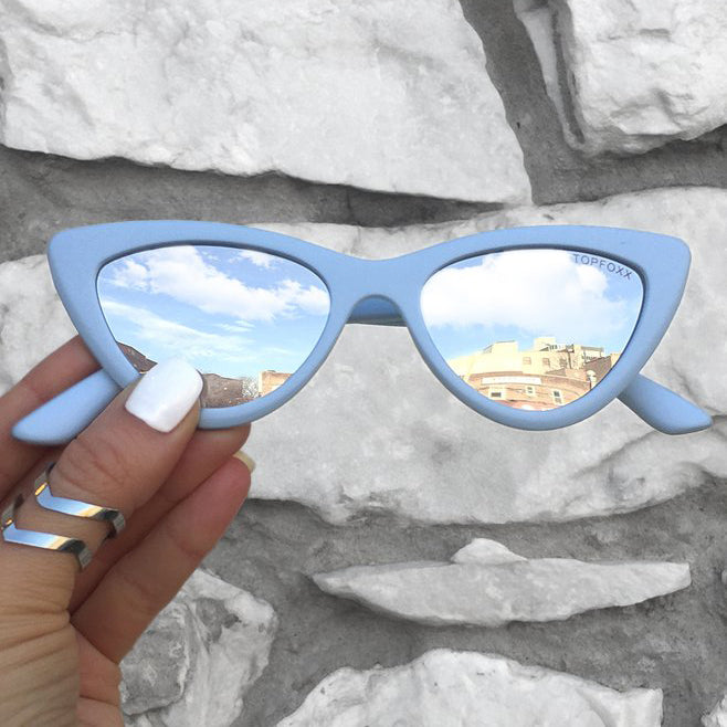 Matrix sunnies - Matte Blue/Silver - TopFoxx