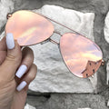 Topfoxx Sunglasses Amelia Aviators Rose Gold