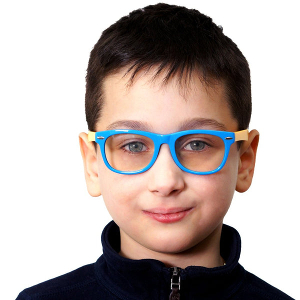 Topfoxx Kids Blue Light Blockers Square Frame Junie Blue Yellow