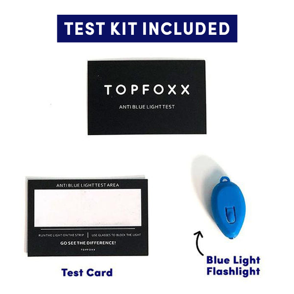 Topfoxx Kids Blue Light Blockers Aviators Flash Black Test Kit