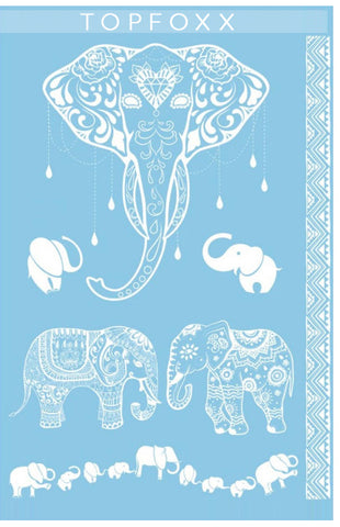 """Majestical Elephant"" - White"