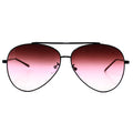 Topfoxx Sunglasses Amelia Aviators Faded Burgundy
