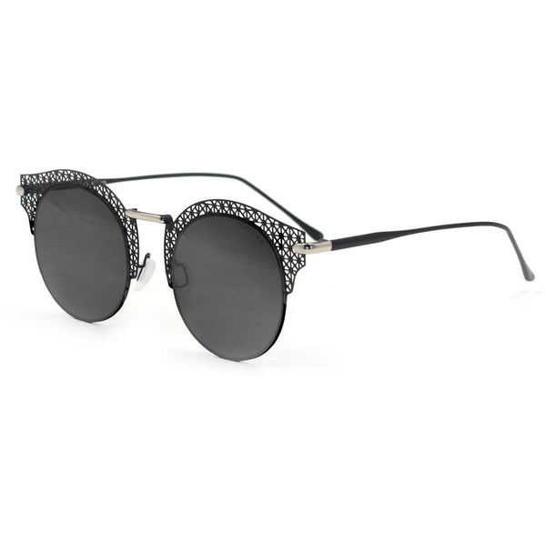 Topfoxx Sunglasses Angel Round Lens Black
