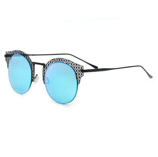 Topfoxx Sunglasses Angel Round Lens Aqua Blue