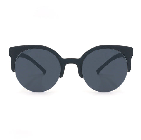 Retro round Sunnies - Matte Black