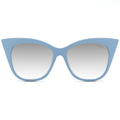 Topfoxx Women's Trendy Bestselling Cat Eye Sunglasses New York Venice Cateye Blue Frame Silver Lens
